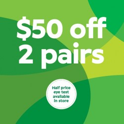 $50 off When Selecting 2 Pairs from the $299 Range or Above - Specsavers Premium Club